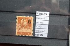 FRANCOBOLLI SVIZZERA N°147 USATI USED (F89435)