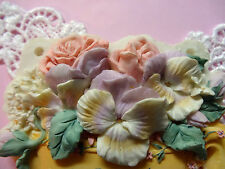 Beautiful Flowers silicone mold fondant cake decorating wedding cake roses FDA