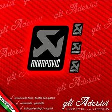 AKRAPOVIC Dark Grey Team Adesivo resistente calore