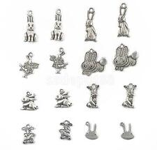 16Pcs Tibetan Silver Bunny/Rabbit Charm Beads Fit European Chain Bracelet