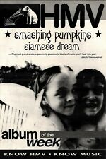24/7/93PGN37 SMASHING PUMPKINS : SIAMESE DREAM ADVERT 15X11""