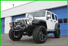 2013 Jeep Wrangler Sahara Unlimited Lifted Loaded White Automatic +++