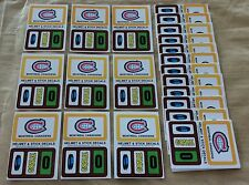 1979-80 Topps NHL Hockey Sticker Insert Montreal Canadiens (GOALIE) Lot Of 25