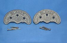 Heavy Duty Metal Shoe,Motorcycle Boot Heel Plates with Nails- #7- 1 Pair