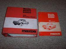 1989 Mazda B2200 B2600 B-Series Truck Workshop Shop Service Repair Manual Set