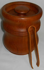Mid Century MISSEN - DENMARK Teak Wood LINED ICE BUCKET Great Design!