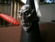 nosferatu, vampire, dracula monster biker ring - will size