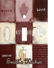 PERSONALIZED COFFEE MOCCA LATTE COLLAGE LIGHT SWITCH PLATE COVER