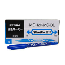 10 pcs Blue Color Tattoo Piercing Skin Marking Pen Dual-tip Disposable Marker