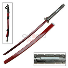 Murasama Red Blade Metal Gear Rising Carbon Steel Sword Katana Shoulder Strap