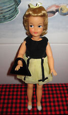 RARE 1963 IDEAL 1st  ISSUE~Long Hair PEPPER DOLL(#2)~PARTY TIME~Dress-Shoes+Bag