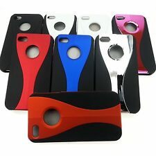 Lot of 20, 3-Piece Snap On Curve Wave Hard Cases Covers for Apple iPhone 4S 4