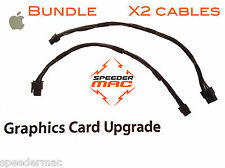 Lot of Two graphic video card power cable for Mac Pro 6/6pin PCI-e PCI-Express