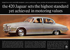 JAGUAR 420 RETRO A3 POSTER PRINT FROM CLASSIC 60's ADVERT