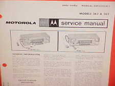 1965 DODGE MONACO 880 CHRYSLER 300 CONVERTIBLE MOTOROLA AM RADIO SERVICE MANUAL