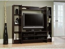 Large Tall TV Stand Flat Screen Wall Entertainment Media Storage Cabinet Center