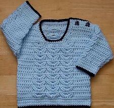 Babies-childrens Sweater Crochet Patrón No. 223 diseñado por Kay Jones
