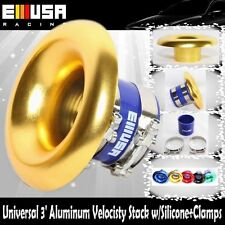 """EMUSA GOLD 3"""" Neck / 6.5"""" Opening Aluminum Velocity Stack w/coupler +clamps SET"""