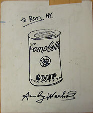 VINTAGE MARKER PAINTING SIGNED WITH ANDY WARHOL ERA PICASSO