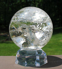 Large Quartz Sphere / Crystal Ball w Rainbows