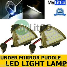 2x Bright Xenon White LED Upgrade VW Side Under Mirror Puddle Light Lamps P0082B