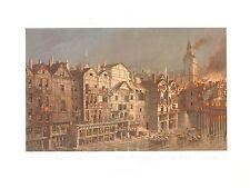 HOFF017  France Paris ile de la Cité incendie 1621 Change Tour Horloge Palais