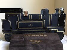 NWT Authentic Kate Spade New York All Aboard Train Leather Clutch $348
