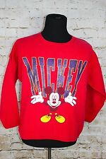 Women's Disney Mickey Mouse Sweatshirt Pullover 3/4 Sleeve Shirt Sweater Large L