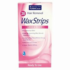 Women 20 Hair Removal Legs & Body Wax Strips For Normal Skin Clean Quick & Easy