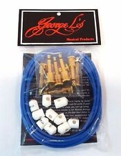 George L's Musical Products 155 Effects Kit Blue w/ Gold Plugs - Caps  - New