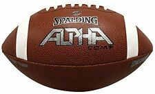 Spalding Alpha Composite Football, Brown, Youth