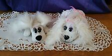 """15"""" White Fluffy Ears Pound Puppy in a Wedding Dress OR 11"""" Long Fluffy Ears"""
