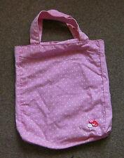 Rose polka dot sac shopping