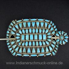 Indianerschmuck Türkis Cluster Haarschmuck Haarspange Navajo Handarbeit