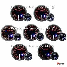 ANY 3 GAUGE OFFER - NEW 52mm Clear Lens Peak Warn Premium Gauges Turbo Boost Oil