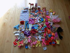 Barbie Kelly Dolls Lot Accessories Girls Doll Clothing dishes Horse stroller