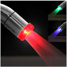 Hot Fantsatic 7 Colors Changing LED Glow Light Water Faucet Shower Stream Tap
