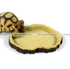 Reptile Tortoise Water Dish Food Bowl Pool for Tortoise Reptiles Gecko Snakes