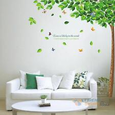 Removable Tree Leaves Butterfly Vinyl Living Room Home Decor Wall Stickers Decal