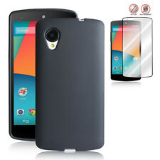 2014 NEW Google Nexus 5 LG Frost Back Case+Free Anti-Glare Screen Protector