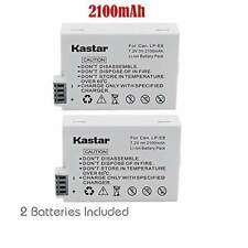 2x Kastar Battery for Canon LP-E8 LPE8 LC-E8 LCE8 EOS Rebel T2i T3i 550D
