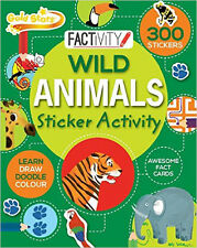 Wild Animals Sticker Activity, New, Parragon Book