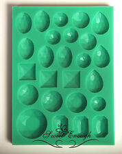 Gem Diamond Jewel silicone mould mold Cup Cake Chocolate sugarcraft fondant