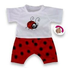Teddy Bear Clothes fits Build a Bear Teddies Red Bug PJs Pyjamas Bears Clothes