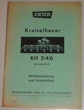 Betriebsanleitung / Teilekatalog Fahr Kreiselheuer KH 2/4/6 - ab Serie 32A