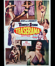 Teaserama DVD film transfer Bettie Page Tempest Storm burlesque pinup