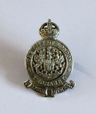 WW1 British Army CITY OF LONDON YEOMANRY Officer Sterling Silver Cap Badge