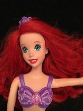 Little Mermaid Ariel Doll Tail Fin Removable Top Movable Arms 12 Inches