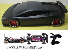 1/10  Lamborghini RTR Custom RC Drift -Cars 4WD 2.4Ghz & Charger