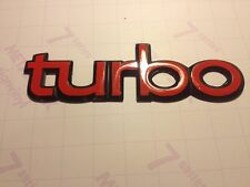 3x Saab 900 Turbo badge stickers, saab turbo bonnet badge resto decals